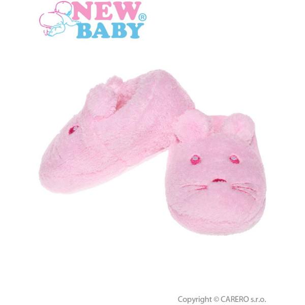 Dojčenské capačky New Baby ružové
