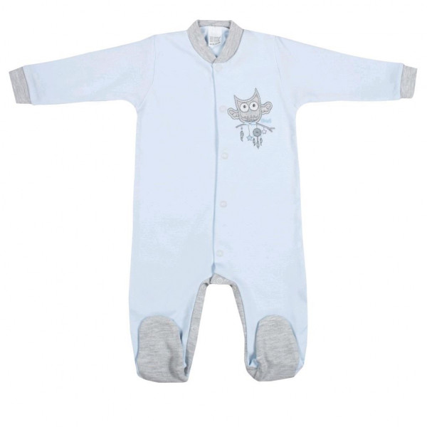 Dojčenský overal New Baby Owl modrý