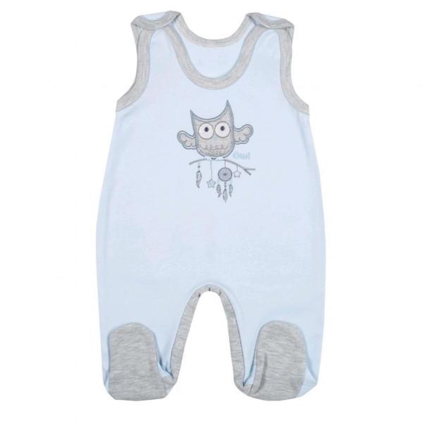 Dojčenské dupačky New Baby Owl modré