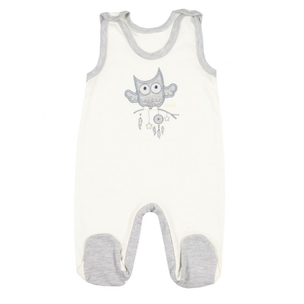 Dojčenské dupačky New Baby Owl béžové