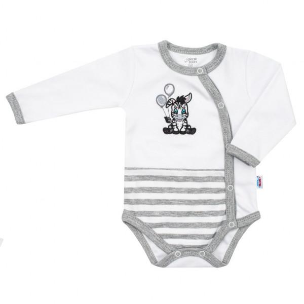 Dojčenské bavlnené celorozopínacie body New Baby Zebra exclusive
