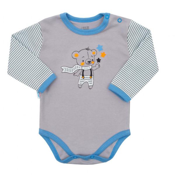 Dojčenské bavlnené polodupačky New Baby Lucky Bear