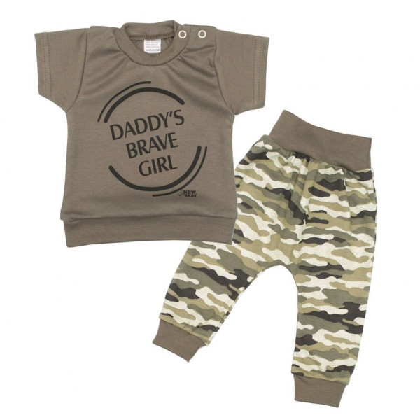 2-dielna dojčenská súprava New Baby Army girl