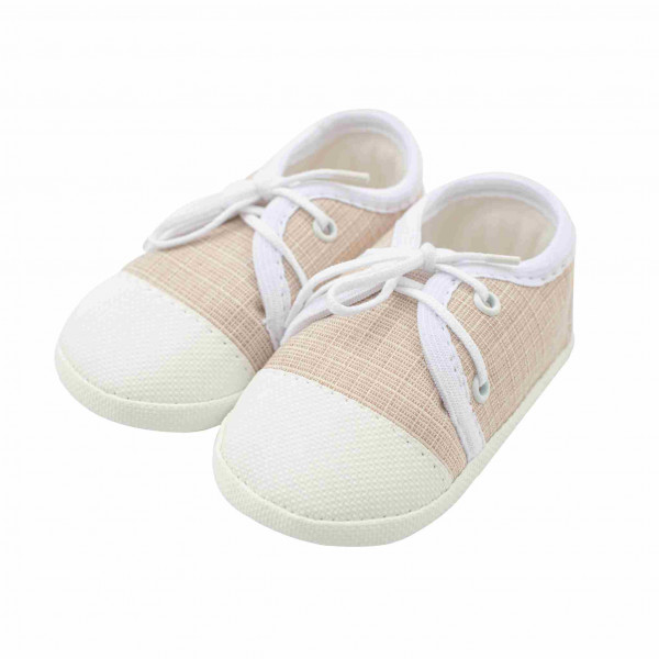 Dojčenské capačky tenisky New Baby jeans béžové 6-12 m