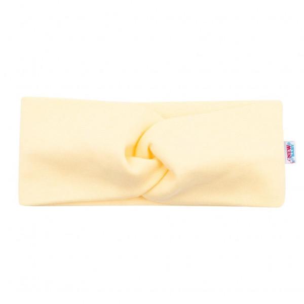 Dojčenská čelenka New Baby Style žltá 2