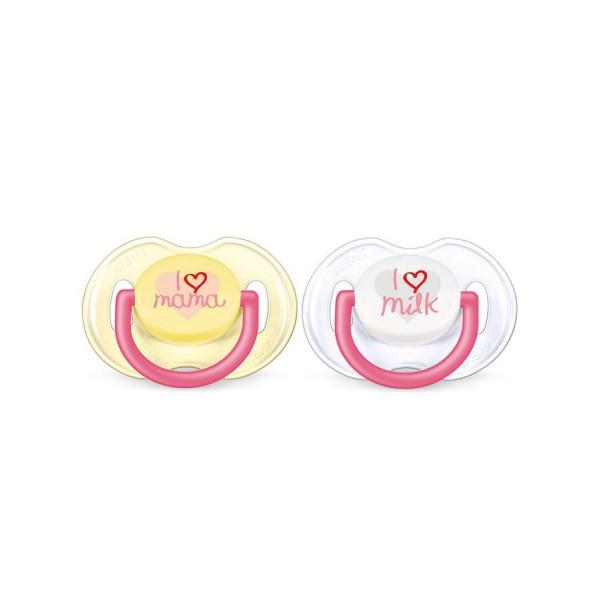 Dojčenský cumlík Avent 0-6 mesiacov - 2ks ružový