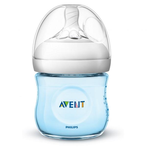 Dojčenská fľaša Avent Natural125 ml modrá